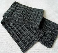 Вяжем мужской шарф