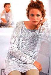 Филейное вязание, туники