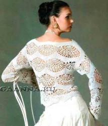 Белый блузон