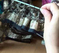 Вязание из ленточной пряжи Bolero Ice (видео)