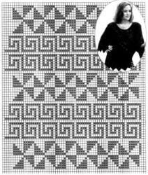 Джемпер филейным вязанием