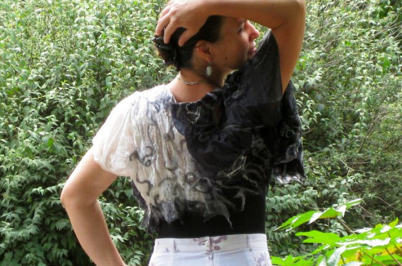 Валяем блузки, туники, болеро (нунофелтинг)