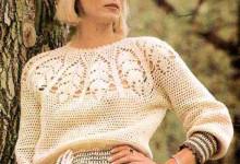 Летняя блуза крючком