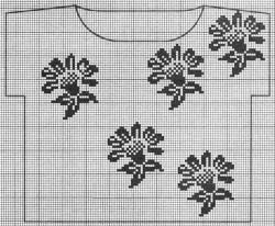 Филейное вязание, еще топы