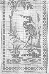 Птичка моя… (филейное вязание)