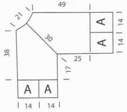 Туника с ажурными квадратами