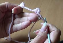 Вязание крючком. Урок 17. Шишечки на цепочке