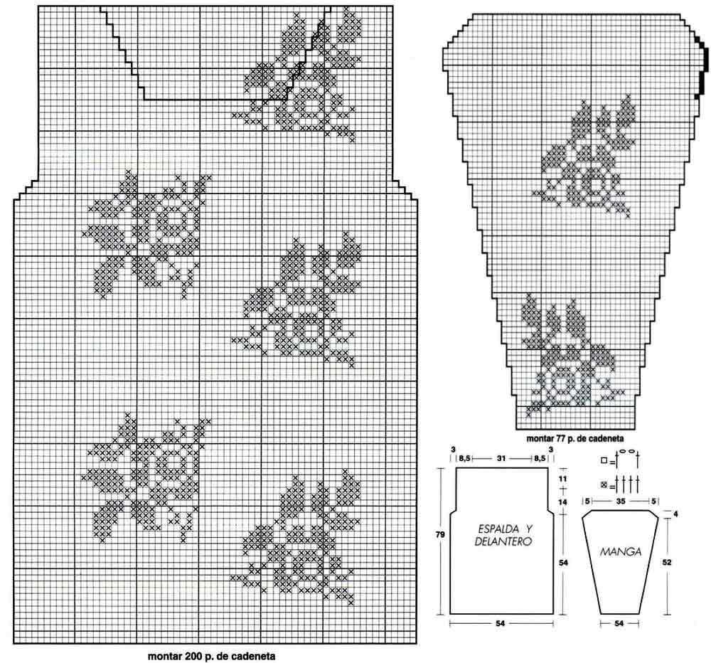схема вязания бутона розы жаккард