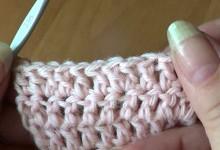 Вязание крючком. Прибавление петель в середине полотна