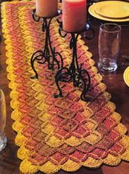 Баварское вязание полосой