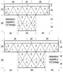 Блузон из треугольных мотивов