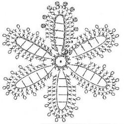 Мотив Снежинка