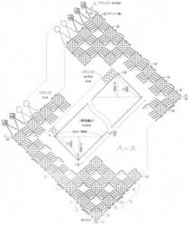 Узоры крючком. Квадратики по диагонали