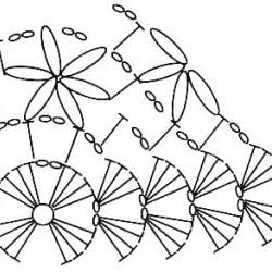 Узор Объемные цветочки