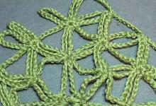 Уроки вязания крючком. Простая шаль из цепочек