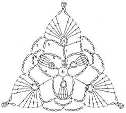 Треугольный мотив с попкорном