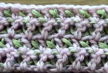 Узоры крючком. Двухцветная филейная сетка