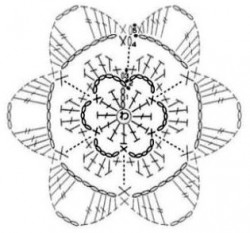 Объемный цветок 1