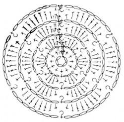 Объемная розочка 1
