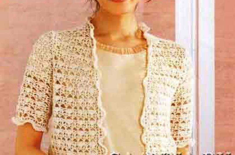 Жакет с волнистой обвязкой