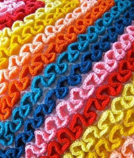домашнее рукоделие как вязать воланы на сетке крючком