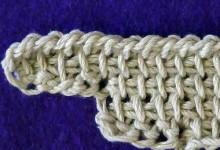 Прибавление петель по левому краю без дополнительной нитки