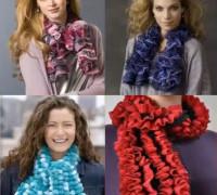 Ленточная пряжа для шарфиков и оборок