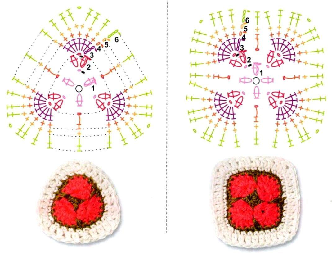 схемы вязаные игрушки цветы крючком
