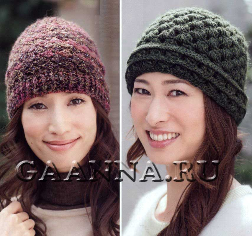 Пуловер с коротким рукавом спицами Японские шапочки вязание схема