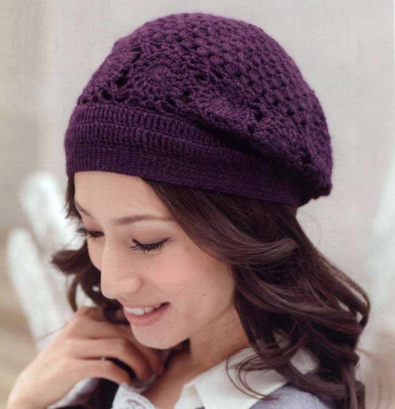 Японские шапочки вязание схема