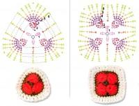 Варианты вязания мотива Африканский цветок