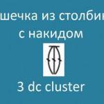 Шишечка из столбиков с накидом