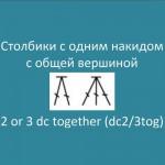 Столбики с одним накидом с общей вершиной – 2 or 3 dc together