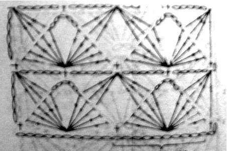 Ажурный узор бабочки схема