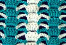 Ажурный двухцветный узор