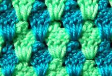 Двухцветный узор с пико