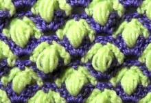Двухцветный узор с пышными столбиками