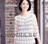 Элегантная белая блуза