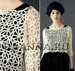 Короткая ажурная блузка