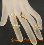 фотография набора фаланговых колец golden lady