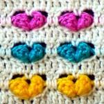 Узор Цветные сердечки