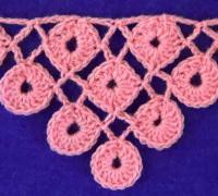 Узор для шали из кружочков