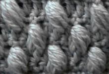Узор с рельефными пышными столбиками