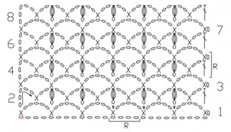 Схема узор из пышных столбиков фото 967