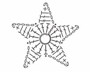 Мотив-аппликация Звезда