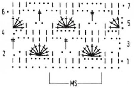 Ажурный узор с плотными арочками