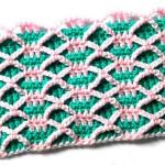 Двухцветный двухслойный узор