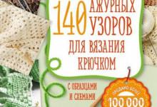 Розыгрыш книги «140 ажурных узоров для вязания крючком»