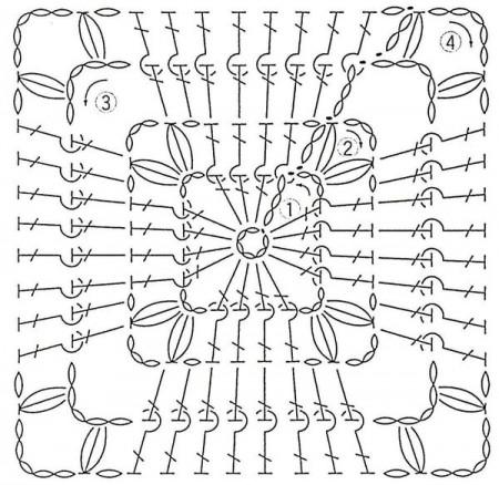 Рельефный квадратный мотив