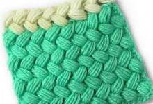 Убавление на плетеном узоре